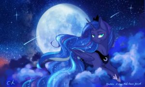 Moon Festival and Luna by Cassiel-K