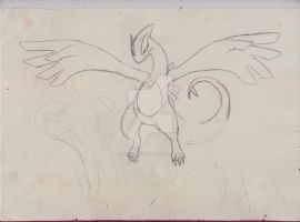Lugia sketch ::COLLABE:: by AnaMarina22
