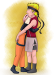 Naruto and Sakura by SerpentKenya