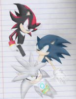 Sonic, Silver and Shadow by ST4RLYTE