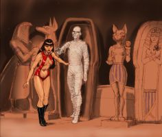 Vampirella neets The Mummy - Karloff by Nick-Perks