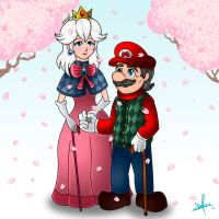 Mario and Peach Forever Together by DJ-Stephanie