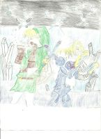 Link and Sheik by Moongaze14
