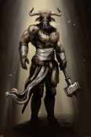 Minotaur Warrior by bradlyvancamp