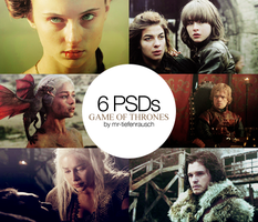 6 PSDs PACK2 - Game of Thrones by mr-tiefenrausch