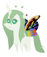Commission: mini Mothra changeling by ForeshadowART