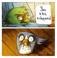 Angry Birds 2 : Silver you are adopteD by MemQ4