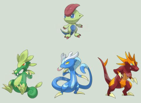 Dragons by Nyjee