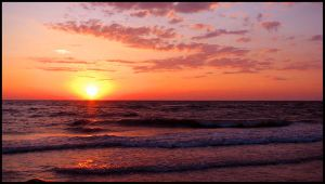 Sunset over Paradise II by 1000--Words