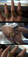 Steampunk Rings by Calliopie