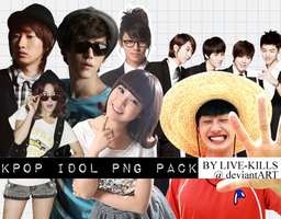 K-Pop idols PNG pack by LIVE-KILLS