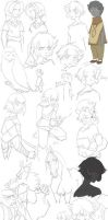MASSIVE SKETCH DUMP WOO by WhiteFoxCub