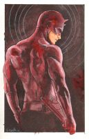 Daredevil Watercolor Sketch... by ssava