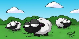 Sheep by evilchibiminion