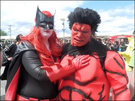 Batwoman and Red Hulk by MJ-Cosplay