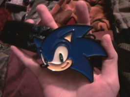 Sonic  belt buckle by sonicfan40