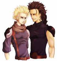 ffvii - zack and cloud by spoonybards
