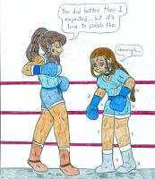 Boxing Korra vs Katara by Jose-Ramiro