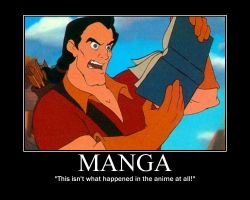 Gaston Reads Manga by LivingShadowDarkMark