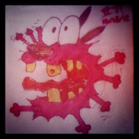Napkin Art #71 - Courage the Cowardly Dog by PeterParkerPA