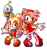 Sprite Redraw: Amy, Cream and Cheese by Zoiby