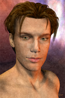 Dazzling Males: David headshot by feadil