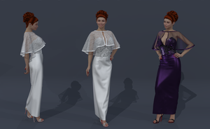 A nice dress and cape for a wedding or after by AmethystPendant
