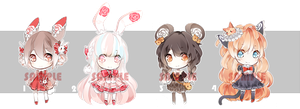[CLOSED] Adoptables: Rosary XXV - XXVIII by Staccatos