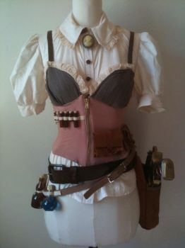Steampunk x Corset Top Etc. by thealisabeth