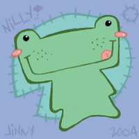 nilly the cute froggy by jinnybear