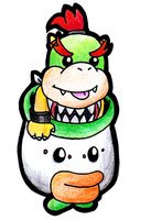 Bowser Jr. by silvermonochrome