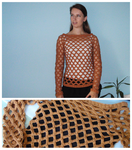 Netted Pullover by Revenia