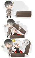 Haise Y Kaneki| Out here! is mine! by La-Mei