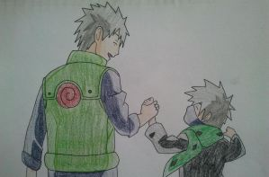 Kakashi and Sakumo - Father and Son by Britney151