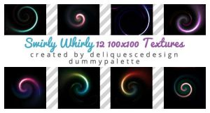 Swirly Whirly: 12 Icon Textures by deliquescedesign