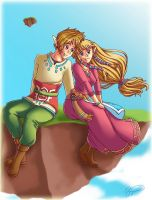 Link + Zelda :: Skyward Sword by brigette