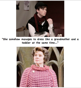 Kurt Meets Dolores Umbridge by BecomingaWallflower