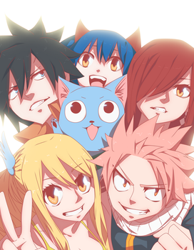 Fairy Tail - smiles by SeyNox