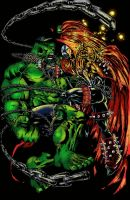Hulk vs Spawn by goloka