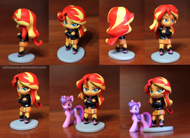 Chibi Sunset Shimmer by AplexPony