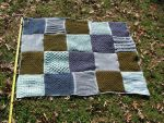 Multi-textured, greens and blues afghan by s0nicfreak