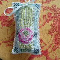 Cross stitch lavender scent pouch by ljshakey