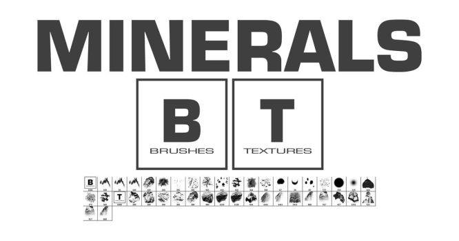 Minerals Brushes by Vincent-Montreuil