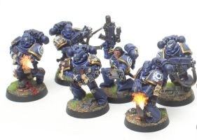Ultramarines Alpha Company Tactical Marines (1st) by jstncloud