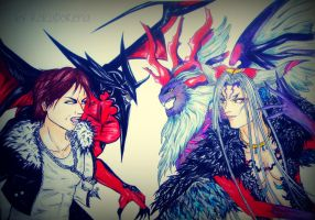 Squall vs Ultimecia by RokudoRena