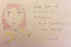Elise's message to her supporters. by TotallyDeviantLisa