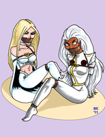 Two Captured Queens by GrouchoM