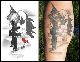 Remembrance Tattoo by RBlakeArt