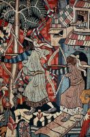 Wild Men and Moors a tapestry 1350 1400 AD depicti by scriu