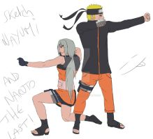 Sketch Nayumi and Naruto the Last  by Sarah927